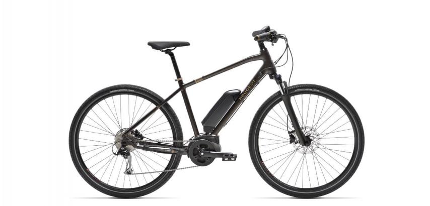 Photographie du vélo électrique Peugeot modèle eT01 Sport de couleur marron