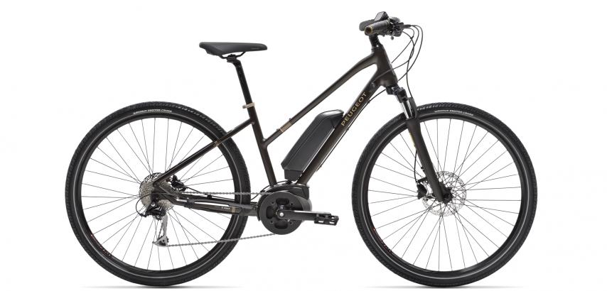 Photographie du vélo électrique Peugeot eT01 Sport avec sn cadre mixte