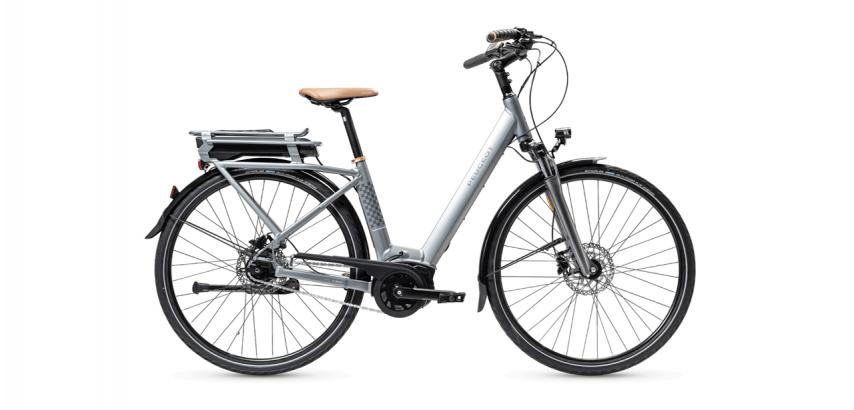 Vélo de ville électrique PEUGEOT eC01 N7 gris