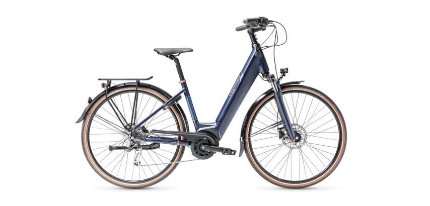 Vélo de ville électrique PEUGEOT eC01 PowerTube D9 bleu