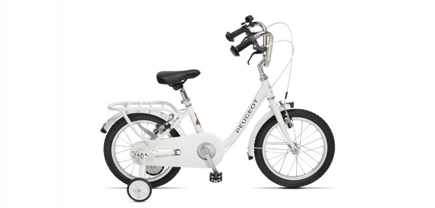 Vélo de ville enfant vintage Peugeot Legend LJ16 blanc